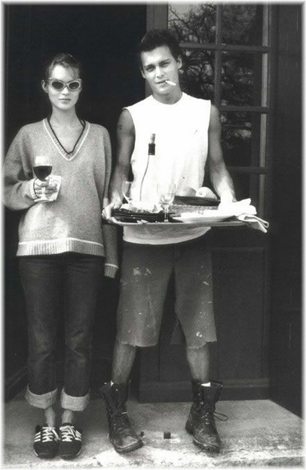 Johnny depp + kate moss #back in the day