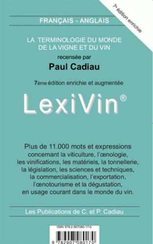 Decouvrez Et Achetez Lexivin Lexiwine Dictionnaire Francais Angla Paul Cadiau Cadiau Catherine Et Paul Sur Dictionnaire Francais Dictionnaire France