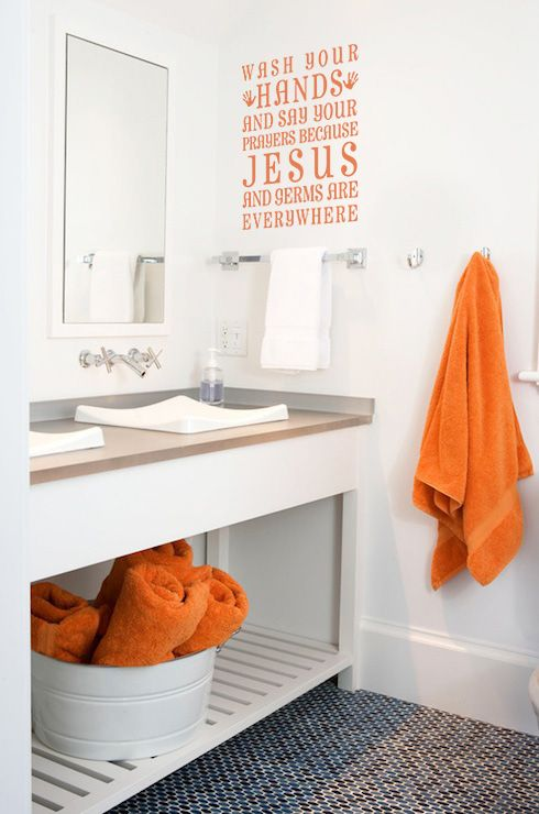 Find More Accessories Decorative Ideas For Your Bathroom At - Orange decorative towels for small bathroom ideas