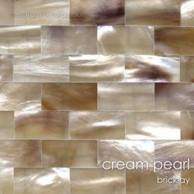 Cream Mother Of Pearl Tile Bricklay Pearl Cream Kitchen Tiles Backsplash