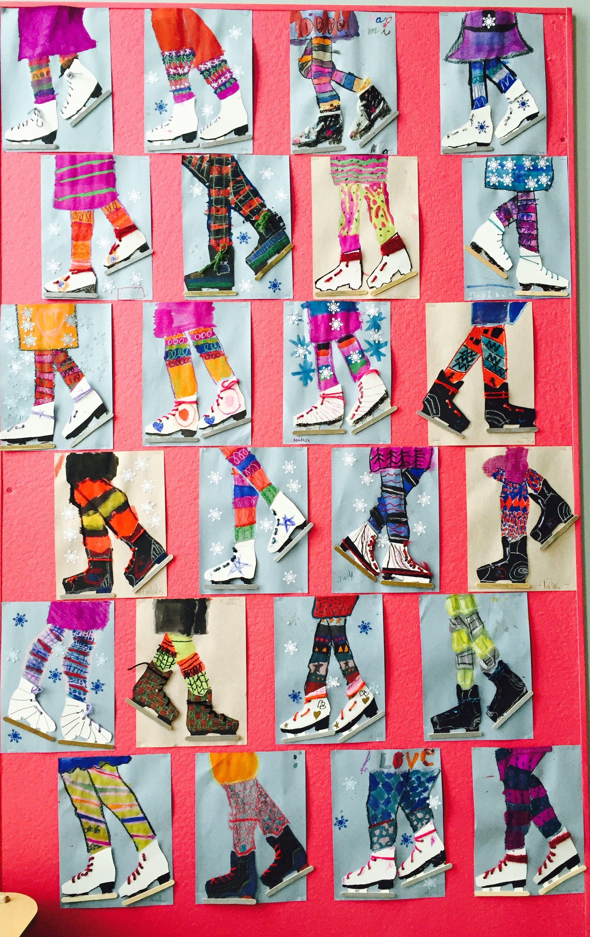 schaatspret schule kunst winter pinterest schule. Black Bedroom Furniture Sets. Home Design Ideas