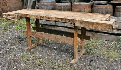 Cool Vintage German Carpenters Wooden Workbench Woodworkers Work Onthecornerstone Fun Painted Chair Ideas Images Onthecornerstoneorg