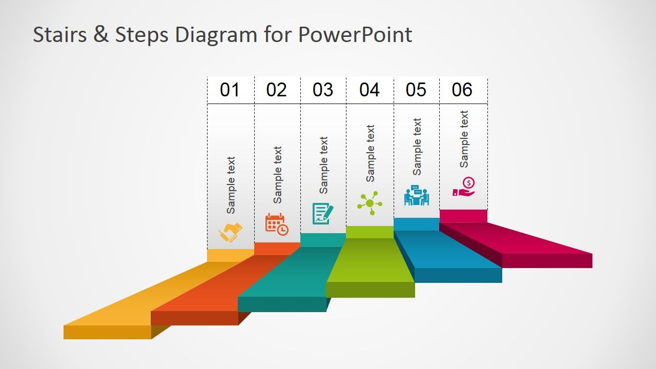 Stairs & Steps Diagram for PowerPoint | Pinterest | Stair steps ...