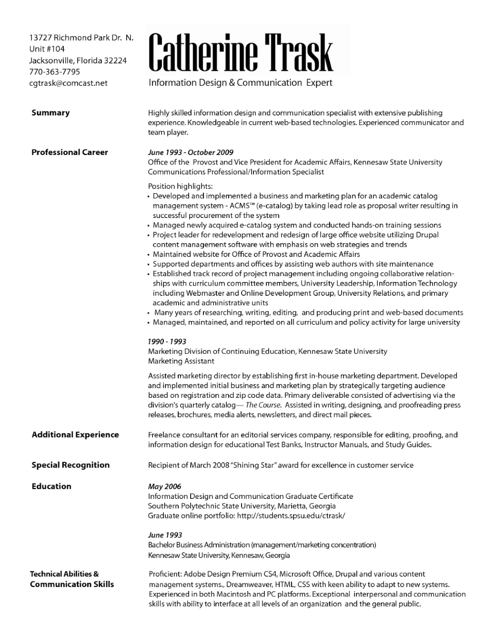 Resume Examples by Industry and Job Title Marketing
