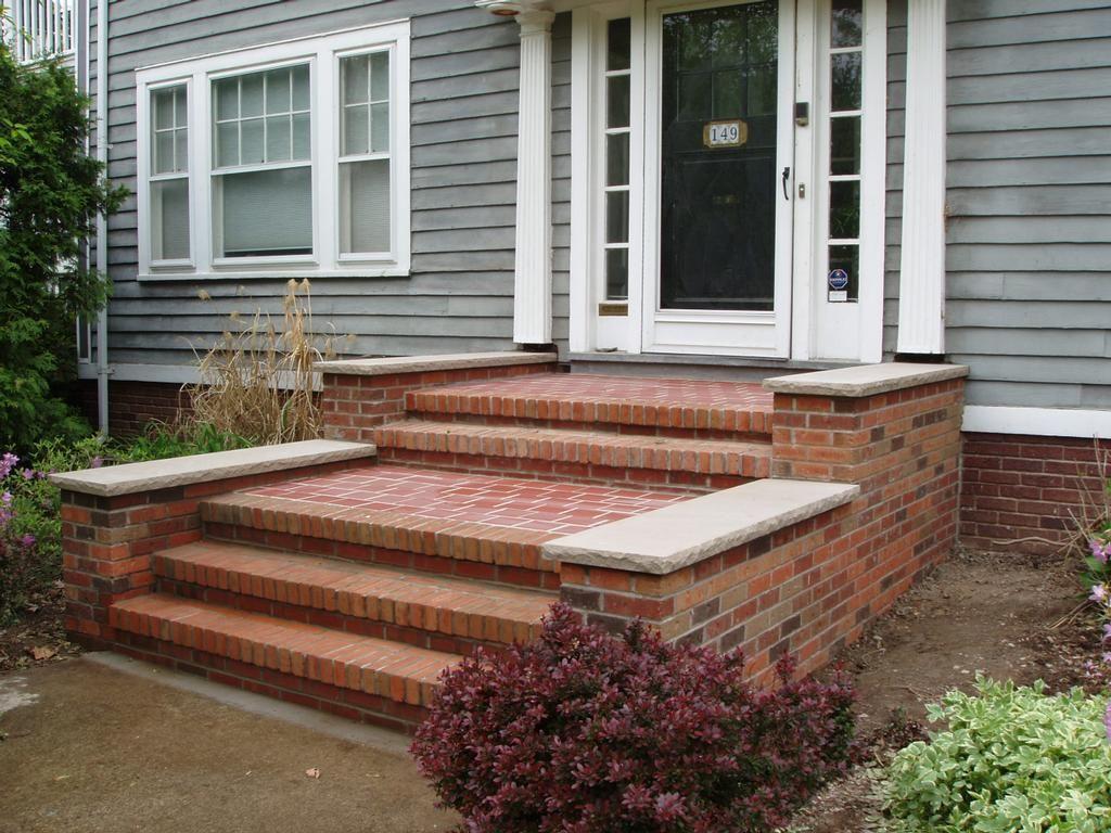 Front Steps But Slate Front Porch Steps Front Door Steps Brick Steps