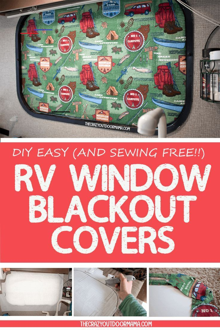 How to diy rv blackout window covers for your rv or camper