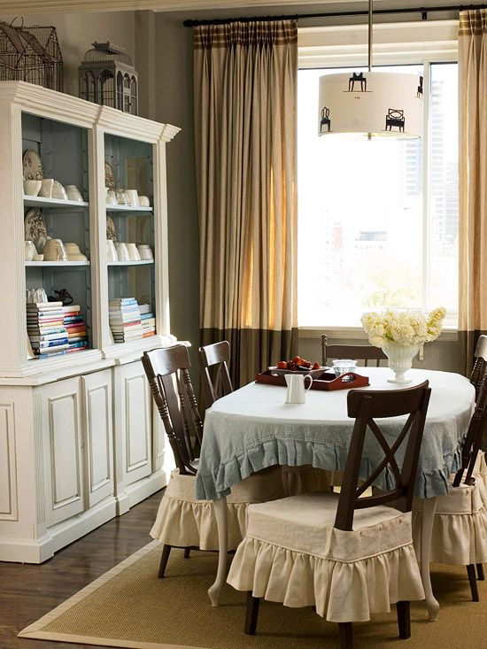 Small space dining rooms small dining rooms small dining and drapery panels - Small dining room storage ...