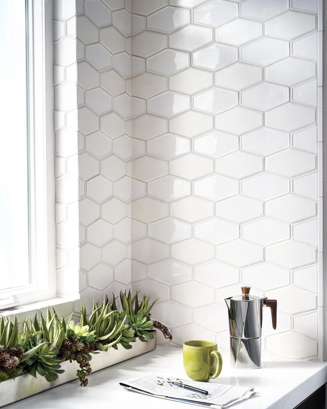Ceramic Tile Kitchen Backsplash: Crossword Clue: 7 Letters. A Six-sided Shape That Makes A