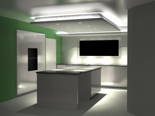Decroche plafond lumi re cuisine recherche google sander plafond faux plafond y plafond - Plafond suspendu cuisine ...