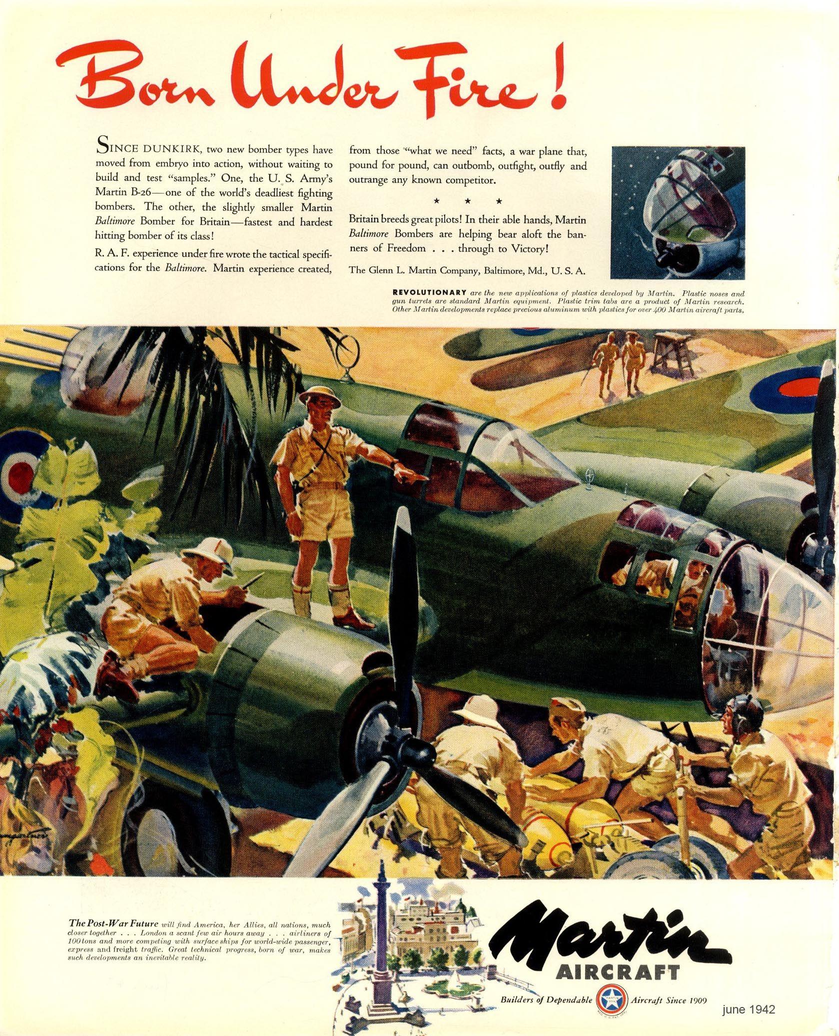 Martin Aircraft ad 1943.
