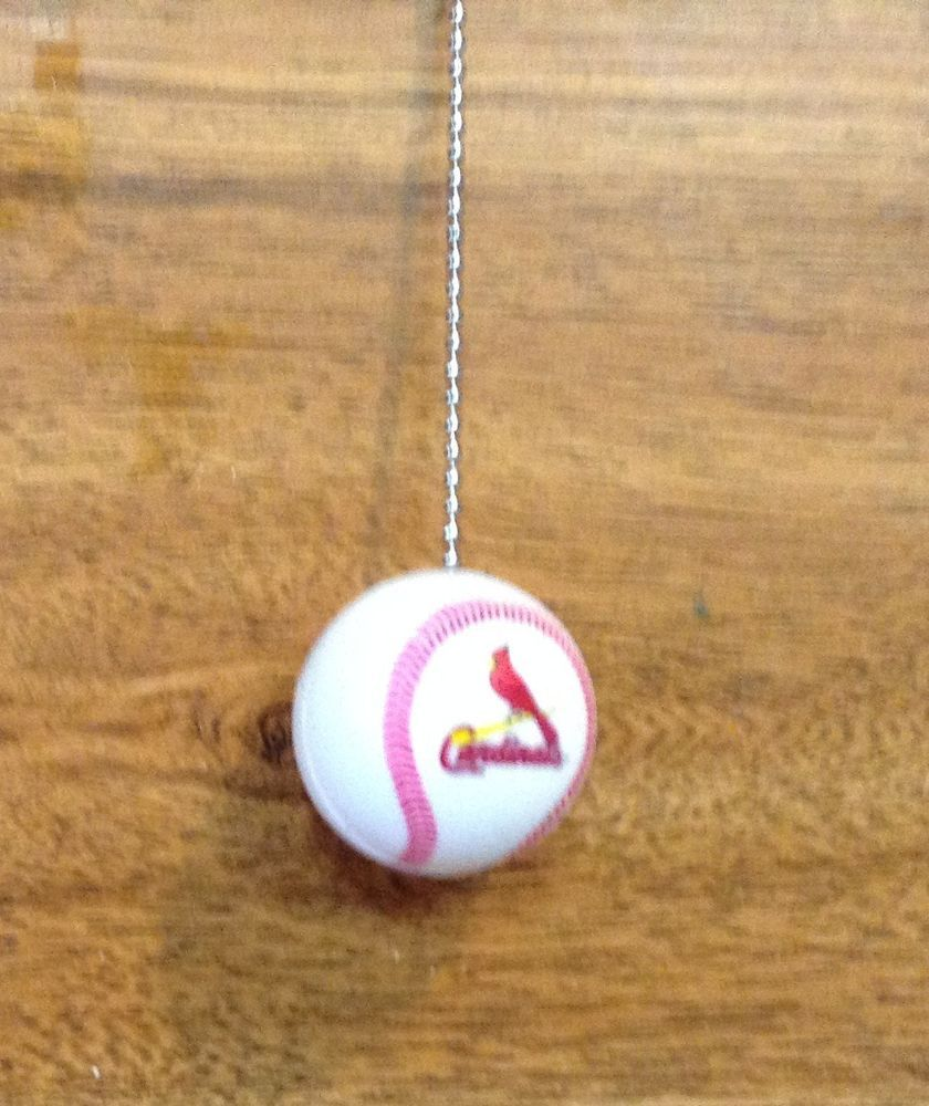St. Louis Cardinals Baseball Ceiling Fan/Light and Pull Chain. #StLouisCardinals