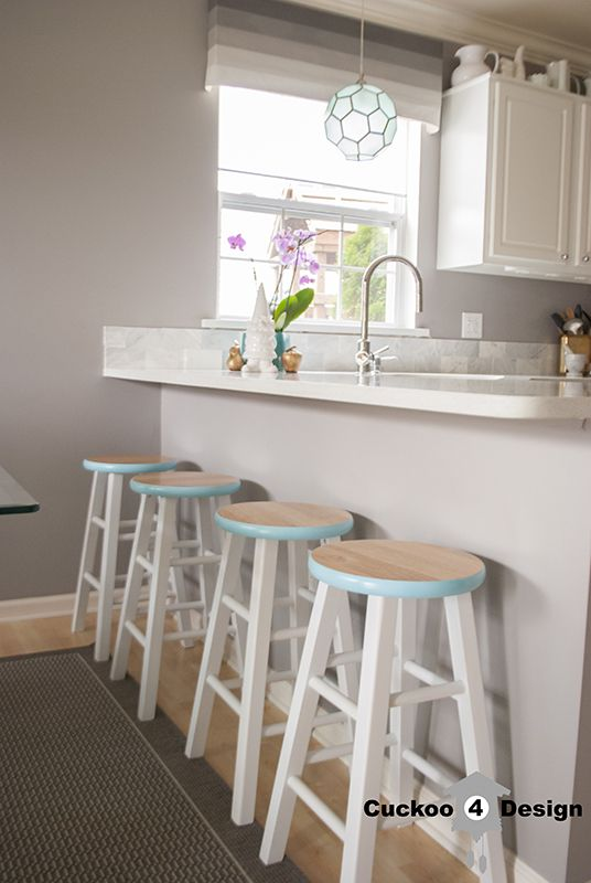Wooden Counter Stool Makeover Stool Makeover Home Goods