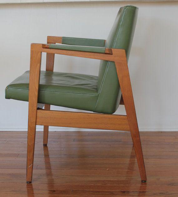 Vintage 1950s W. H. Gunlocke Chair Co. Mid Century by MyBarn