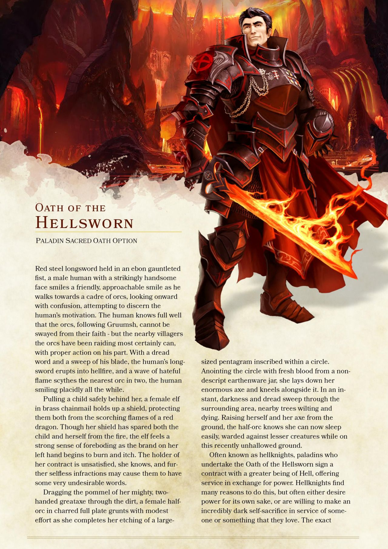 DnD 5e Homebrew — Oath of the Hellsworn Paladin by... | Dnd 5e homebrew, Dungeons and dragons ...