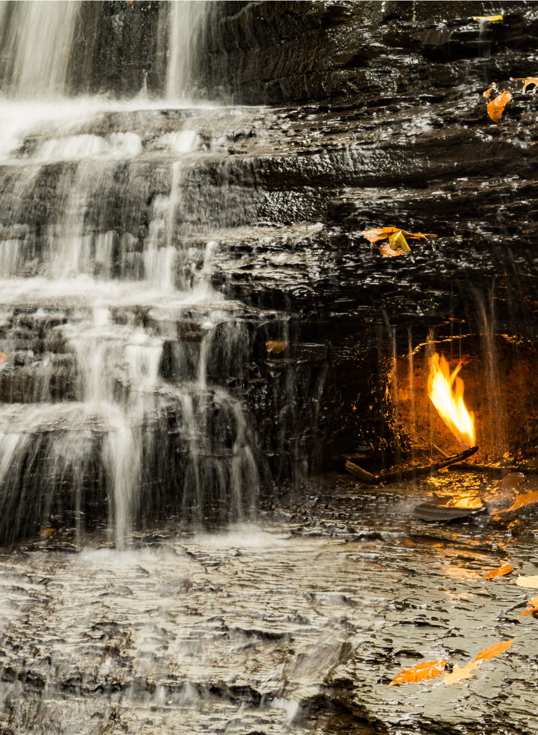 Eternal Flame Falls, New York #autumninnewyork