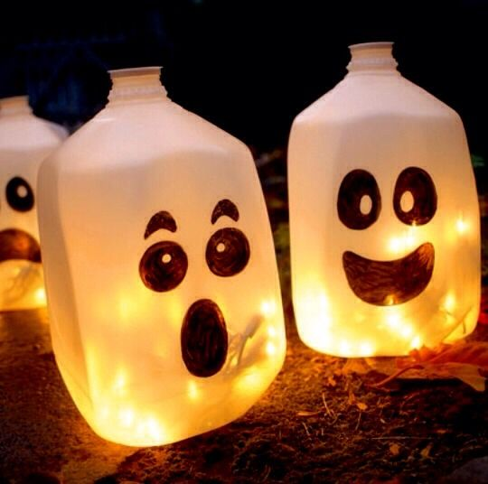 How To Make A Halloween Lantern Out Of A Milk Jug?