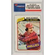 #MLBShop.com - #MLBShop.com Autographed Philadelphia Phillies Mike Schmidt Fanatics Authentic 1980 Topps #270 Card with 80 WS Champ Inscription - AdoreWe.com