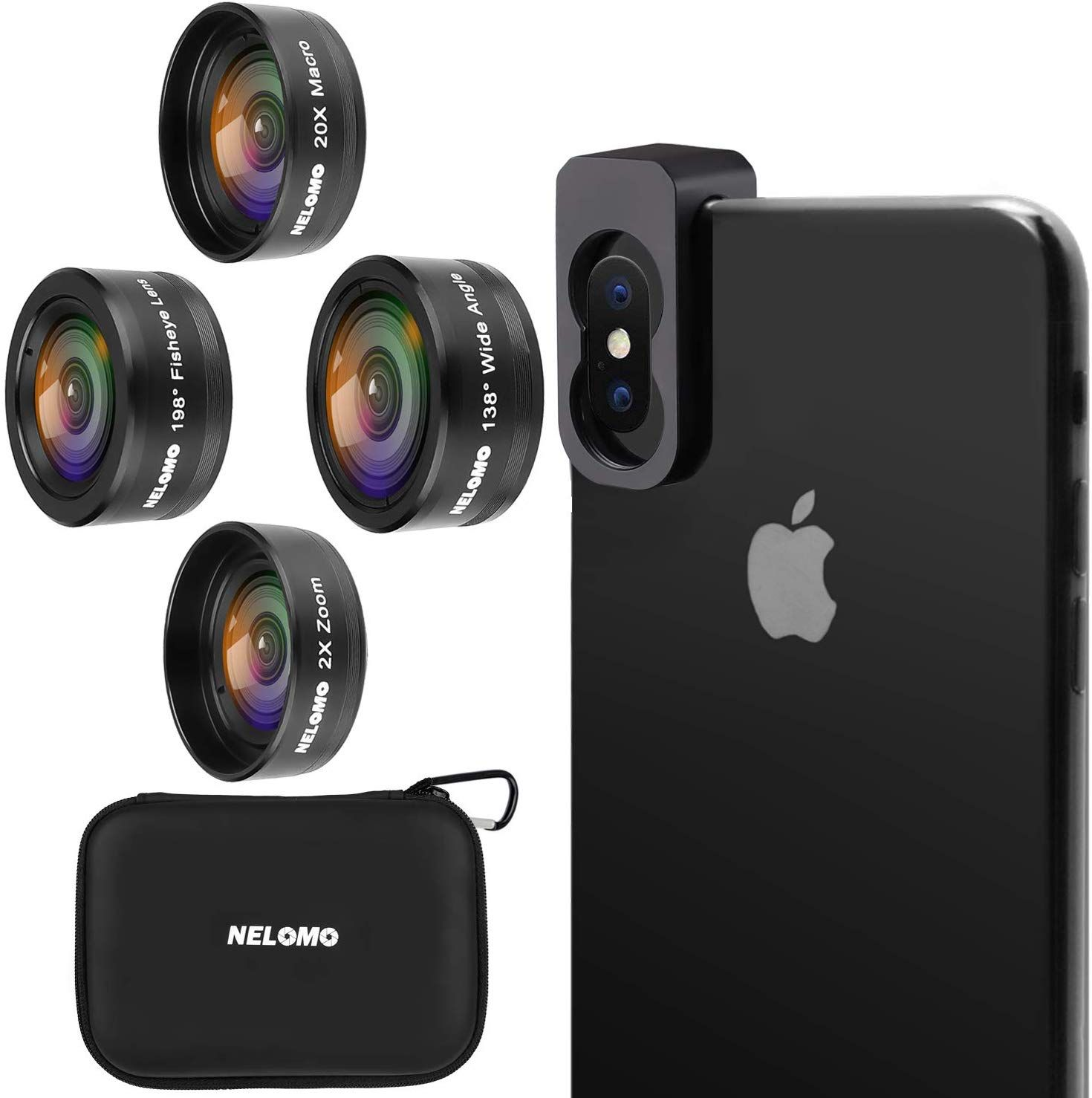 NELOMO Cellphone Camera lens in Phone Lenses Kit Compatible with ...