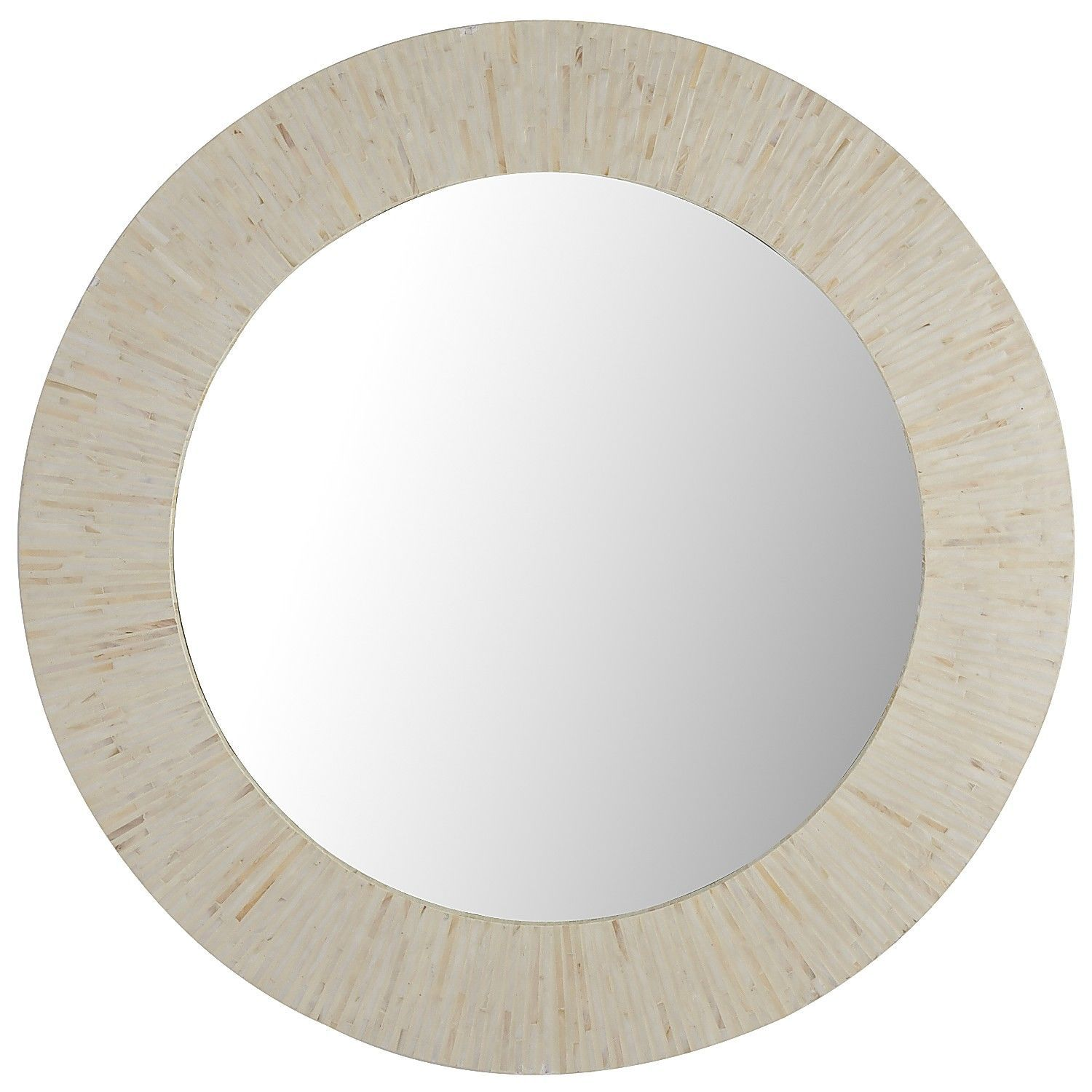Ivory Mother Of Pearl Round Mirror Pool Room Redo