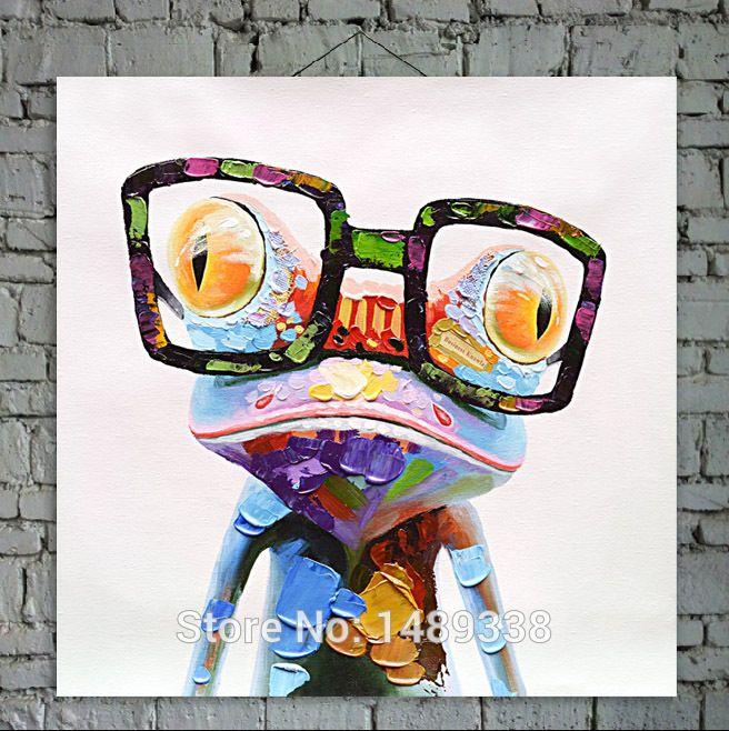 Connu de dessin animé toile peinture à l'huile imprimés pop animal art  WI74