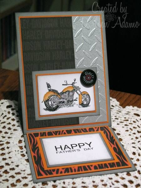 Harley Davidson Birthday Card I Made One Very Similar To This One