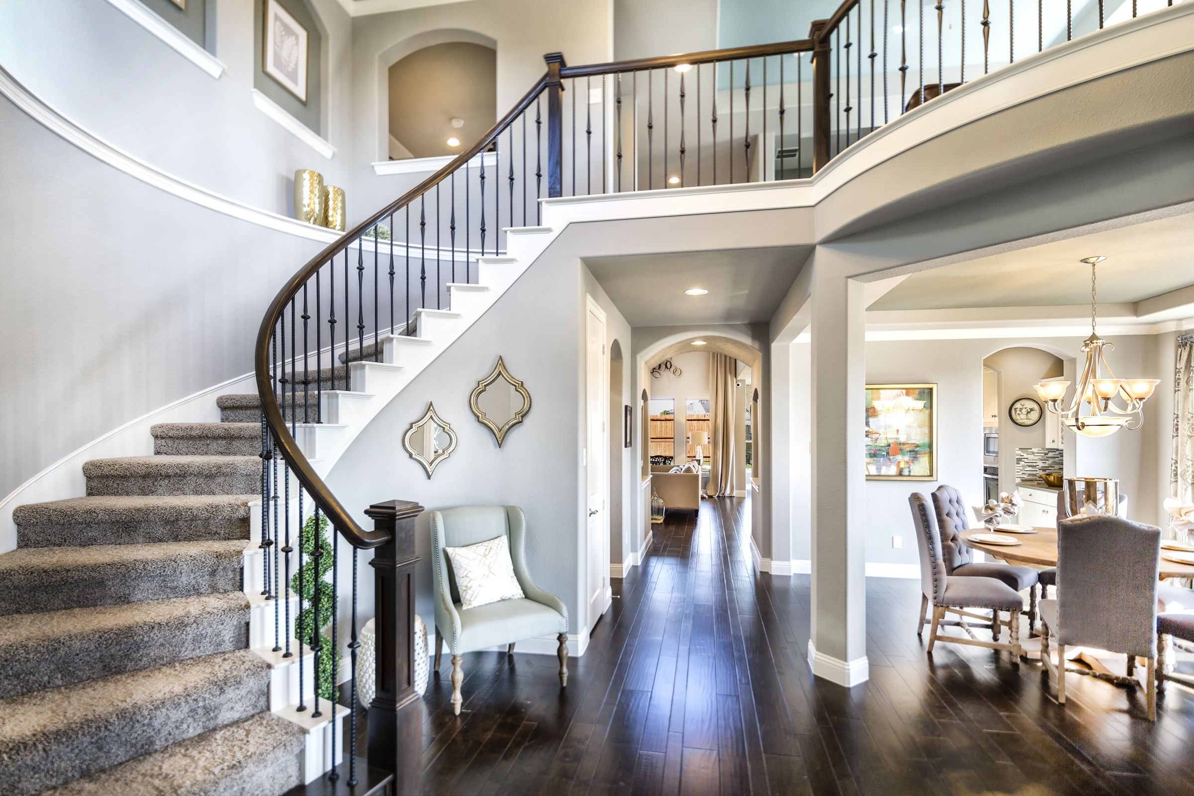 The Entry Into The Plantation Homes Model Home In The Vineyards - Model home interior design