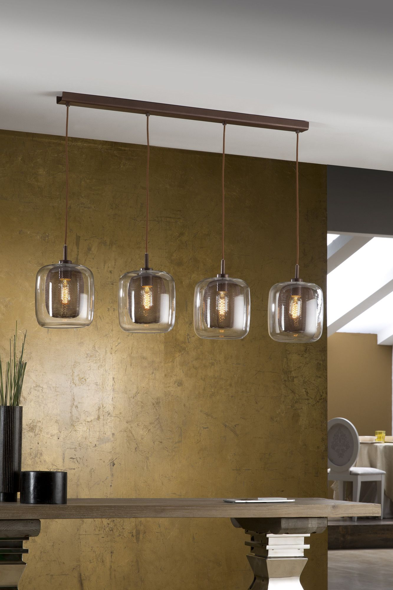 Schuller Fox 4 Light Kitchen Pendant | Kitchen Island Pendants, Kitchen Pendants, Kitchen Lighting