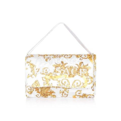 827a0f157f2f Young Versace White   Gold Dragon Print Baby Changing Bag