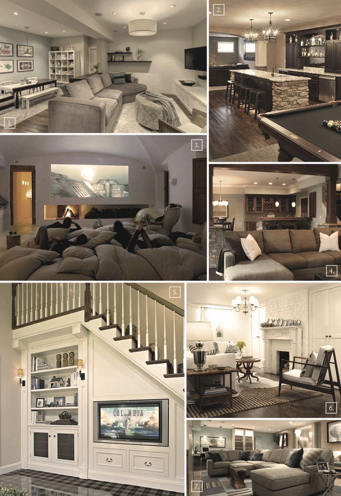 Turning A Basement Into A Family Room: Designs U0026 Ideas Part 40