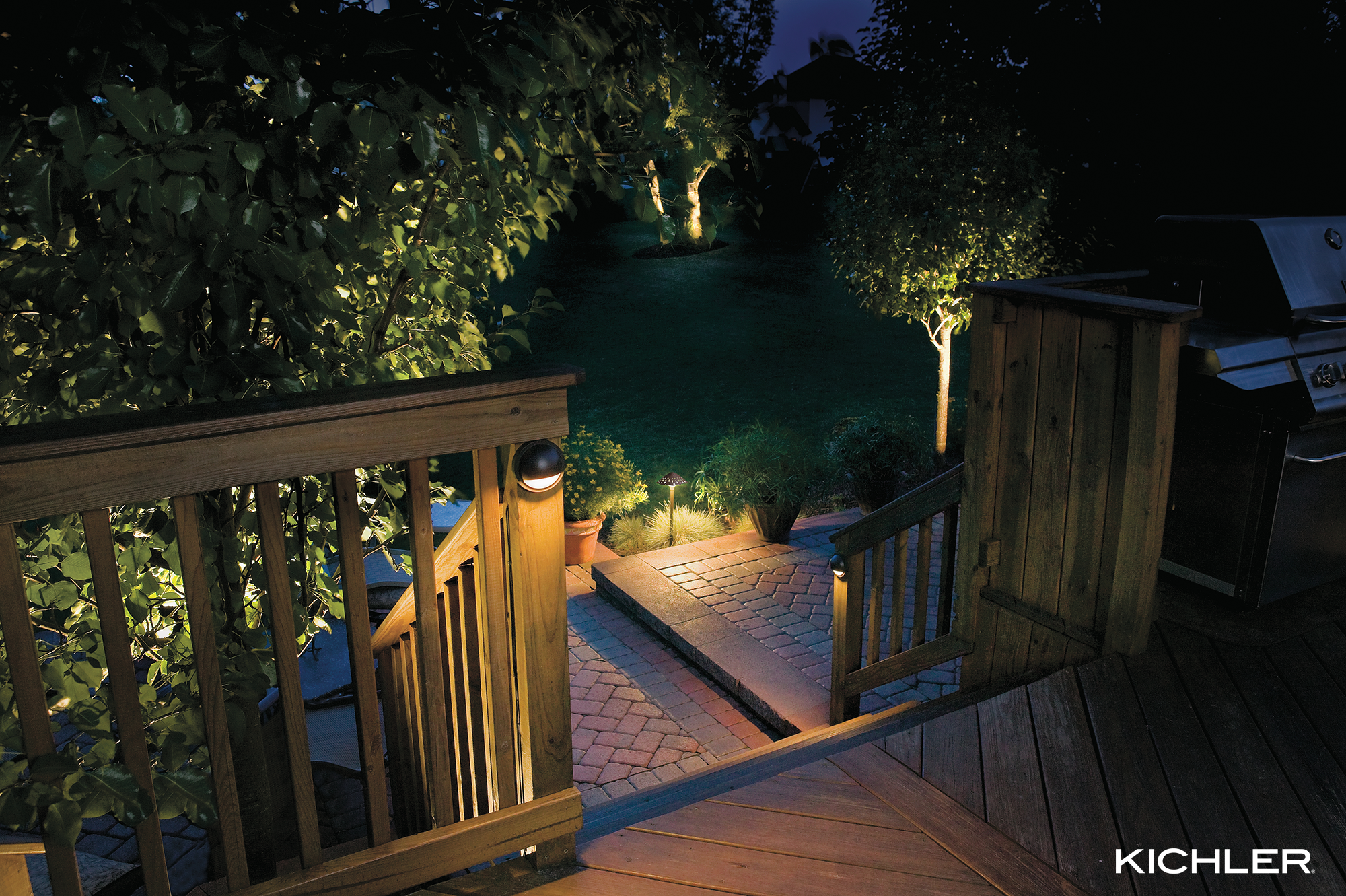 Kichler Landscape Deck Lights Provide Guided Illumination Ensuring Safety For All Who Like Kichler Outdoor Lighting Outdoor Lighting Modern Landscape Lighting