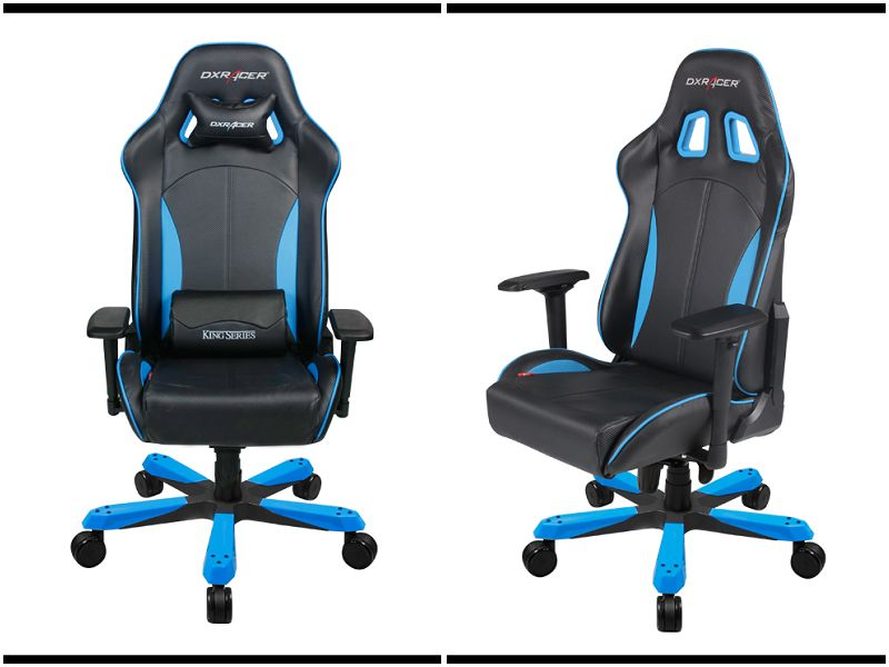 dxracer king size chair black and blue.#king,#office,#usaoffice