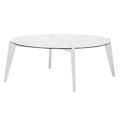 Round White Coffee Table Zab Living - Round White Coffee Table CoffeTable