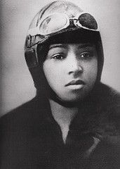 Bessie Coleman, the first black woman in history to hold an international pilot's license.