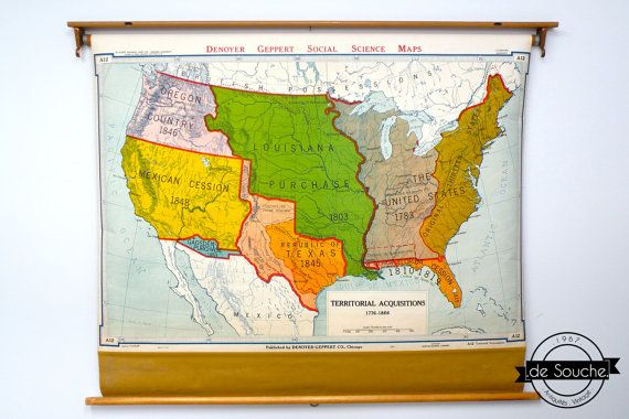 Genuine and Vintage Pull Down Map USA Map United by deSouche1967 ...