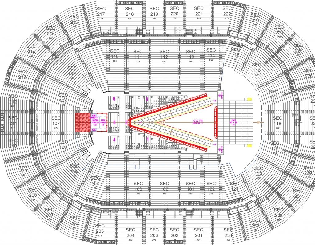 The Incredible And Attractive Ppg Paints Arena Seating Chart With Seat Numbers