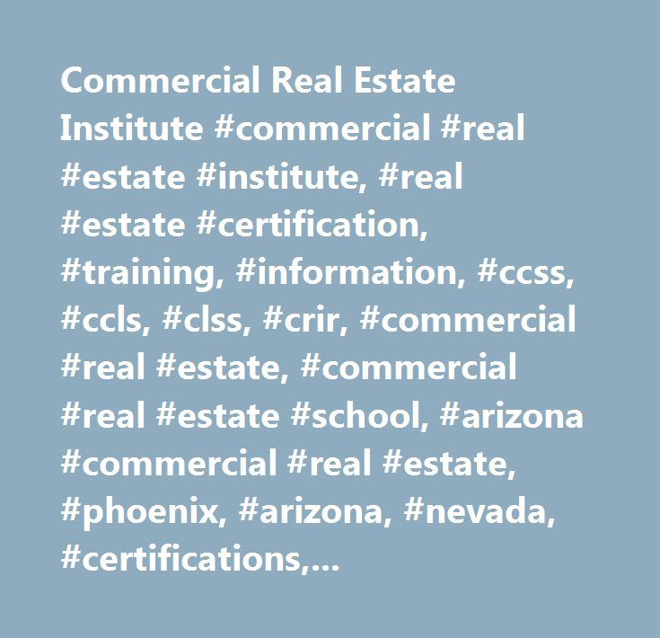 Commercial Real Estate Institute Commercial Real Estate