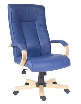 Nice Worcester Blue Leather Office Chair