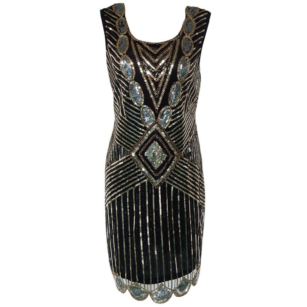 Gatsby black dress tunic top evening us shift dress full of