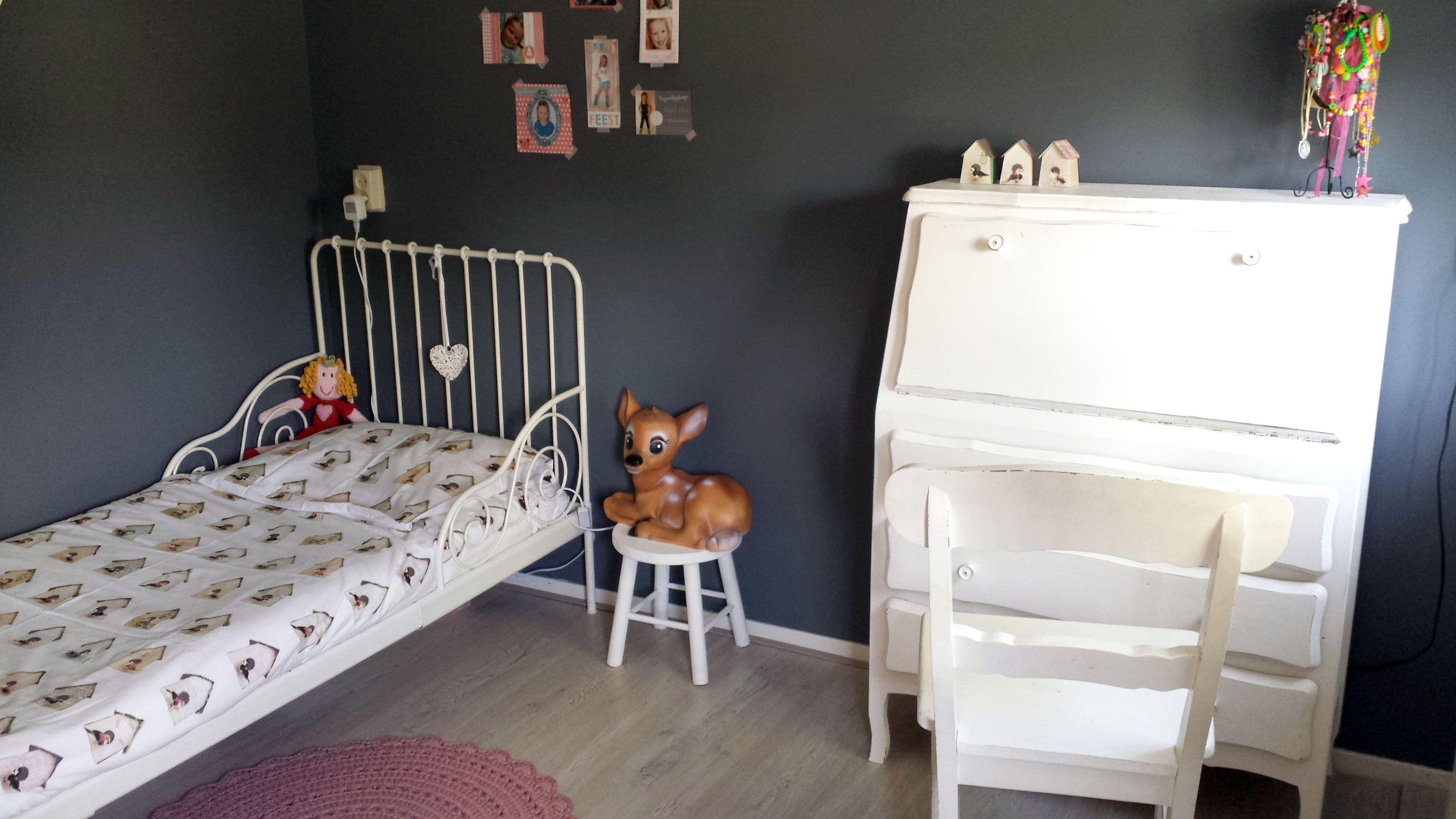 Grijze Slaapkamer Lamp : Meisjeskamer slaapkamer van mijn dochter grijze wand
