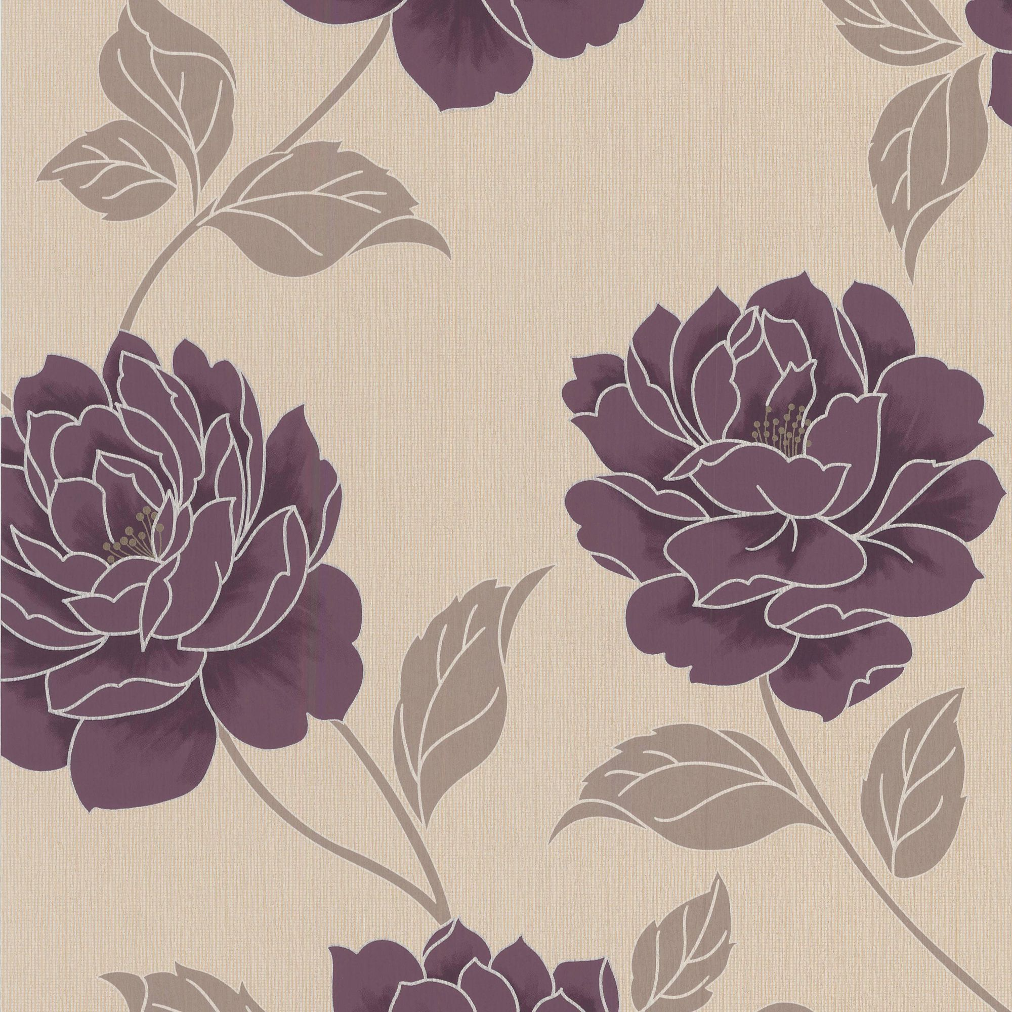 Colours Paste The Wall Ella Plum Wallpaper   Departments   DIY at B Q. Colours Ella Plum Floral Wallpaper   The o jays  The wall and Floral