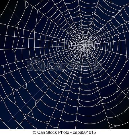 Spider web blue. Clipart vector of illustration