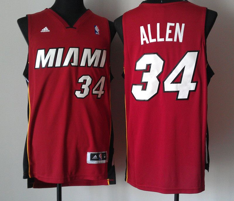 2465860b8 ... amazon adidas nba miami heat 34 ray allen new revolution 30 swingman  red jersey b5f05 52d0f