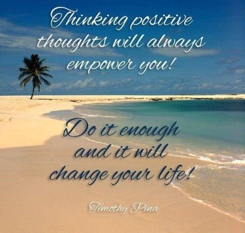 Thinking positive thoughts