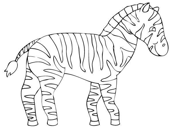 Coloriage z bre coloriage animaux de la savane - Savane dessin ...
