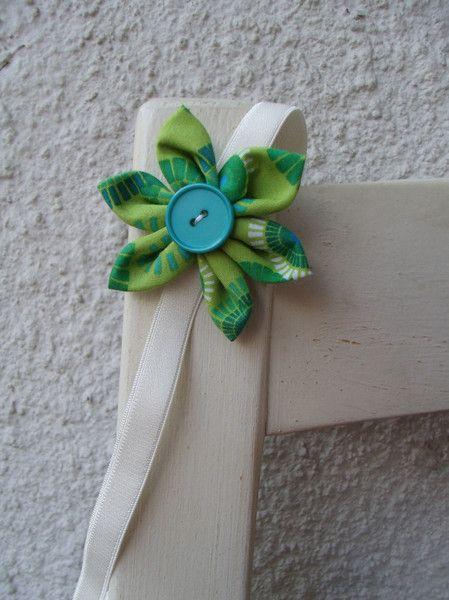 Haarband Blume Haarreifen Blüte von Krimskrämerei auf DaWanda.com