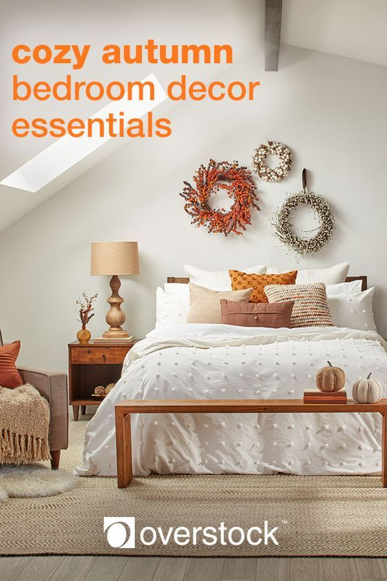8 Fall Bedroom Ideas For A Cozy Autumn Refresh Overstock Com Home Decor Bedroom Fall Bedroom Bedroom Decor Cozy Autumn touches in guest bedroom
