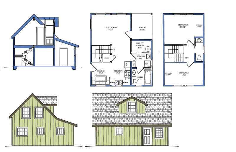 Small House Plans | Alaska cabin, Small house plans and Smallest house