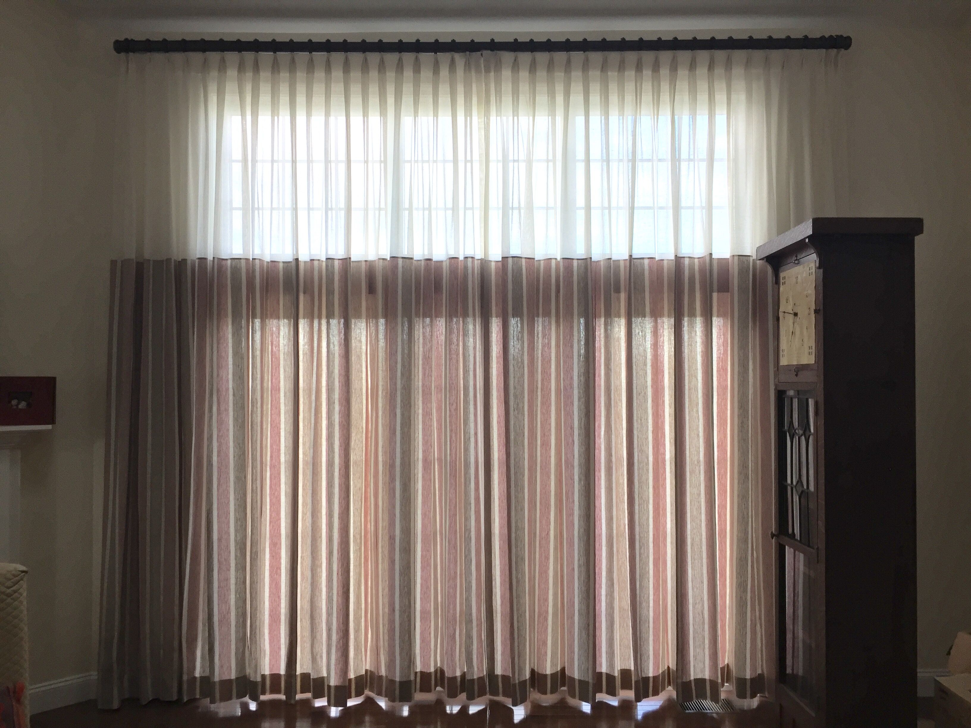 Great Window Treatment Solution For Large Windows Or Sliding Glass Doors With Transom Above Customer