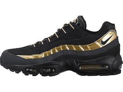 Nike Air Max 95 Premium Mens 538416 007 Black Gold Athletic