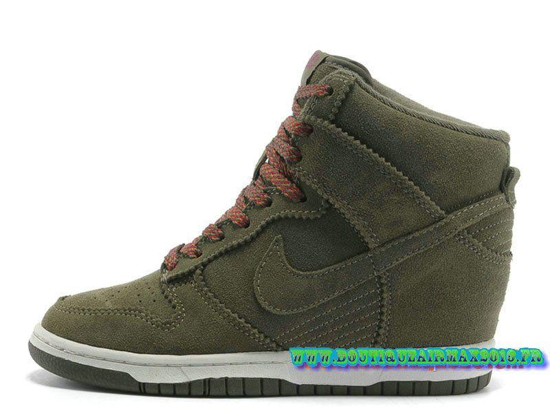 reputable site ab6fb c9c6e Nike Wmns Dunk Sky Hi GS Chaussures Nike Pas Cher Pour Femme Gris